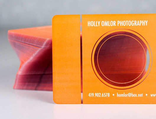 Example of a photography business card for Holly Omlor Photography