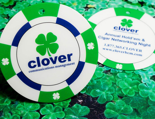 Clover die cut circle card example
