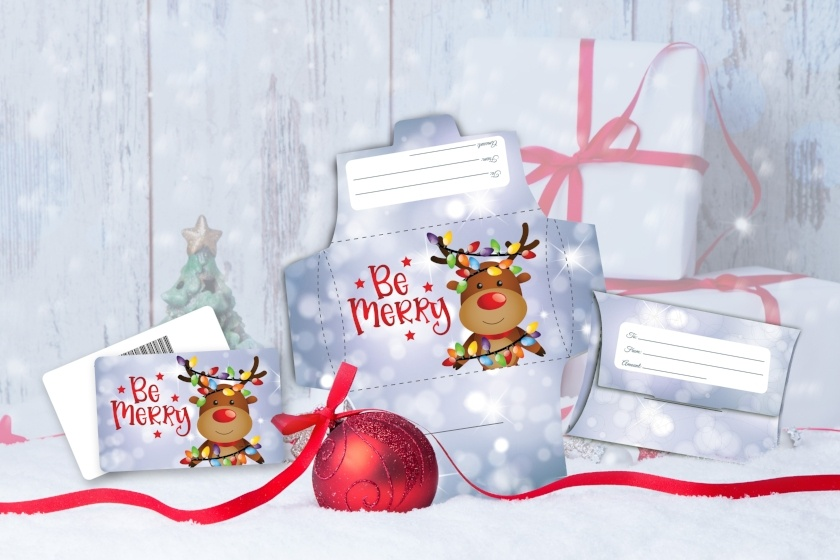 Christmas - Be Merry Reindeer Lights