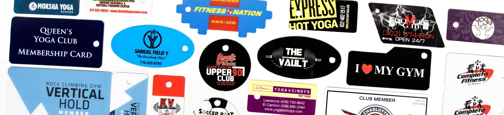 Fitness Center Membership Card and  Key Tags