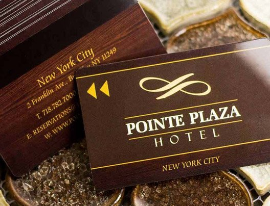 Example of access cards for Pointe Plaza Hotel
