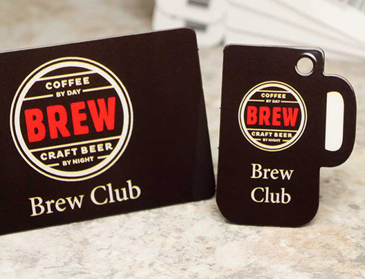 Example of Rewards Key Tag Card for Brew Craft Beer