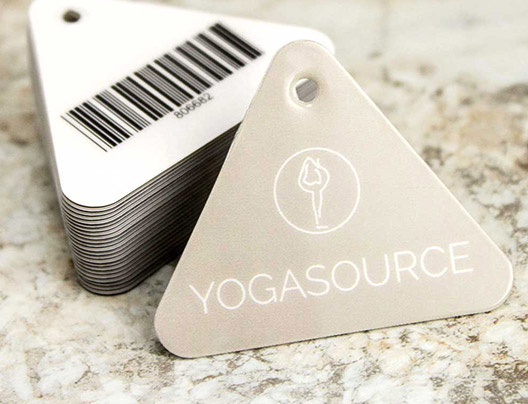 Example of POS Encoded Plastic Key Tag for YogaSource
