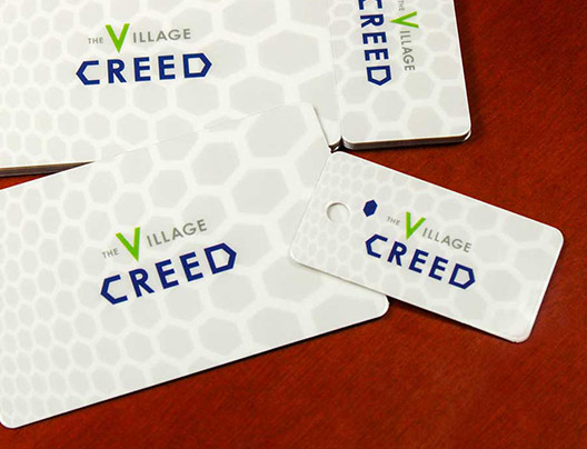 Example of Attendance Key Tag Card for Village Creed