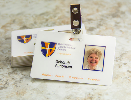Example of medical ID and Badge cards