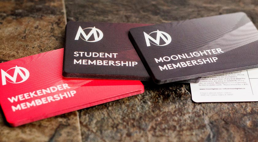 Example of custom membership cards