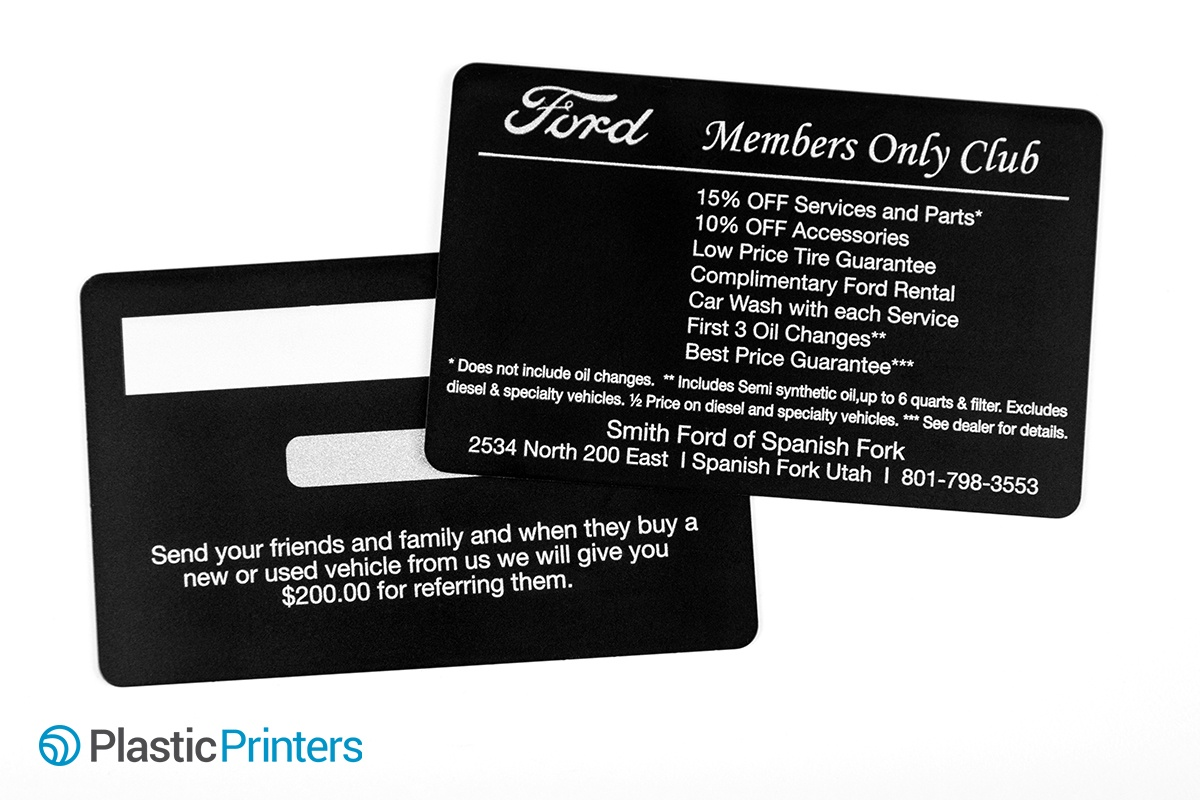 Ford Members Only Club Discount Card