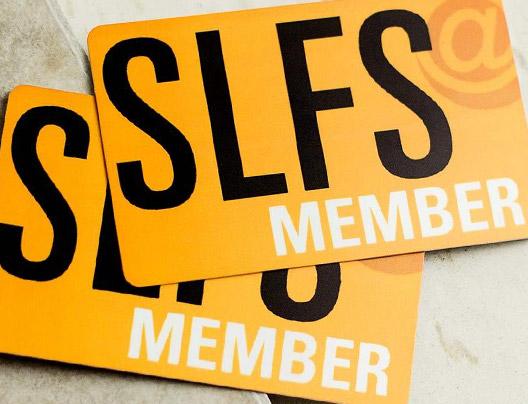 Example of custom membership cards for SLFS