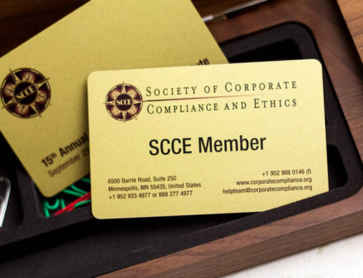 Example of membership rewards cards for SCCE