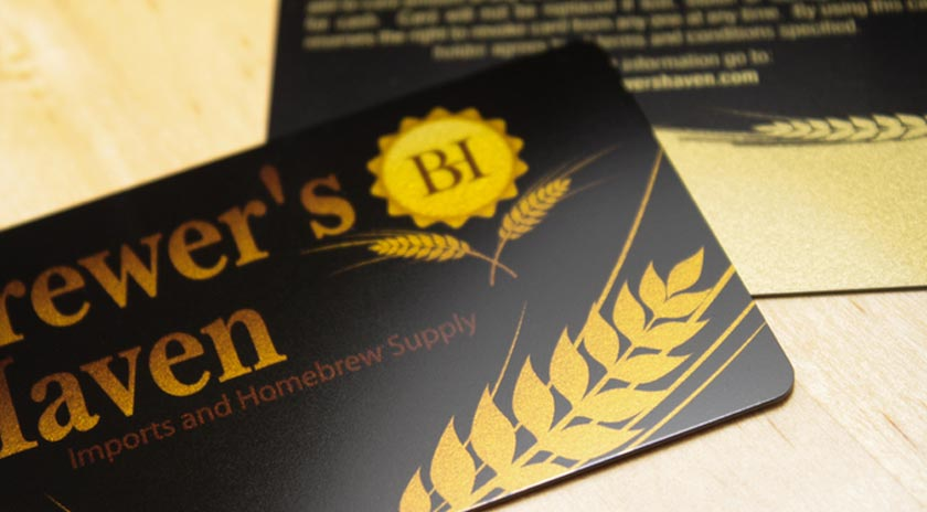 Example of promo card for brewery marketing