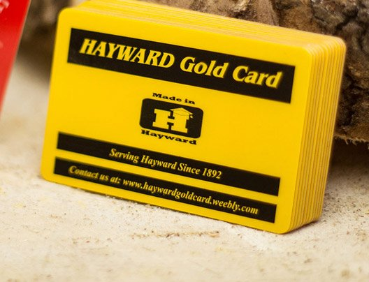 Example of promo cards for Hayward