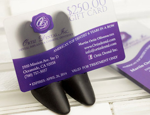 Example of promo cards