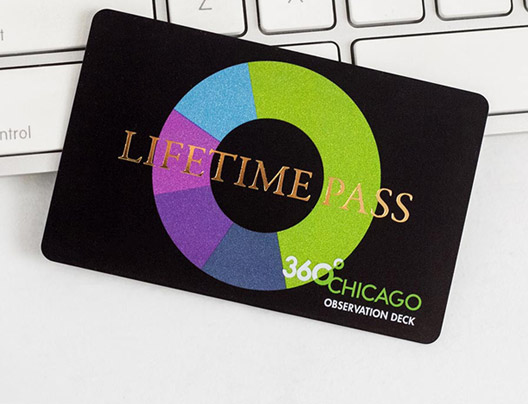 Example of VIP card for Chicago Observation Deck