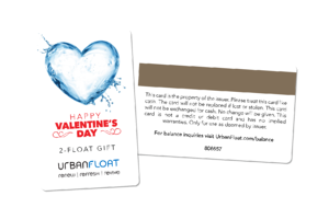 Valentine's Gift Card for Urban Float
