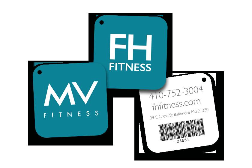 Membership key tags for a gym