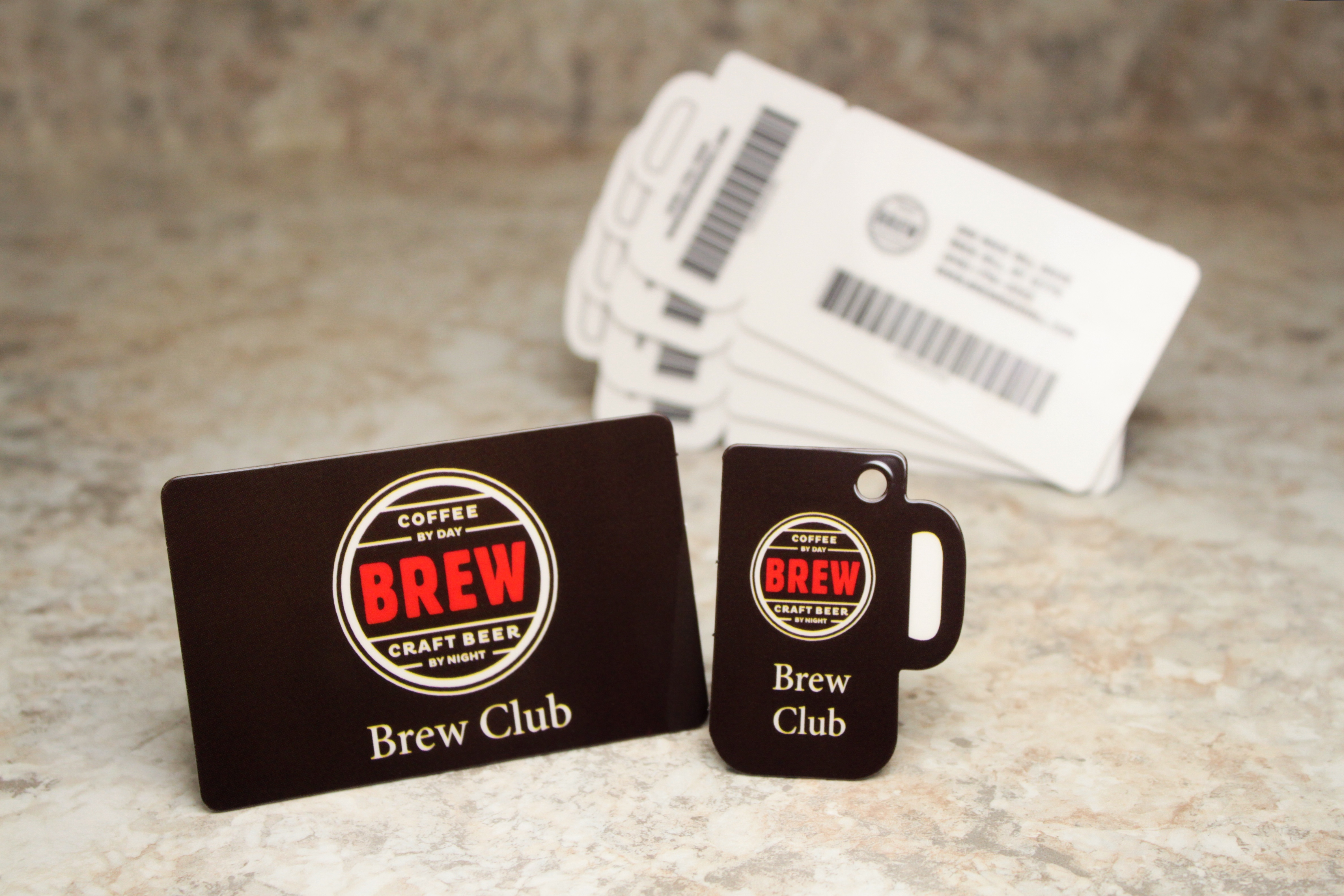 Example of restaurant gift cards from Plastic Printers