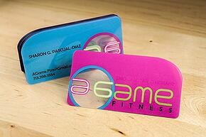 4 ways to make your business card stand out clear plastic business cards with a rounded corner reheart Gallery
