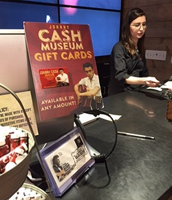 Picture of Gift Card Display at Johnny Cash Museum