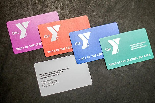 Example of a Gym Membership Card in Variable Printing for the YMCA.