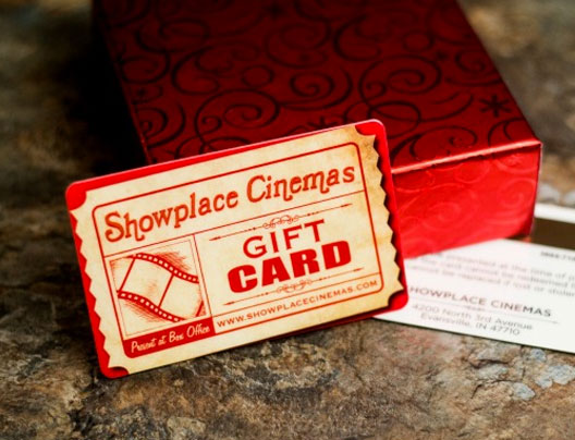 Movie Theater Gift Cards from Plastic Printers