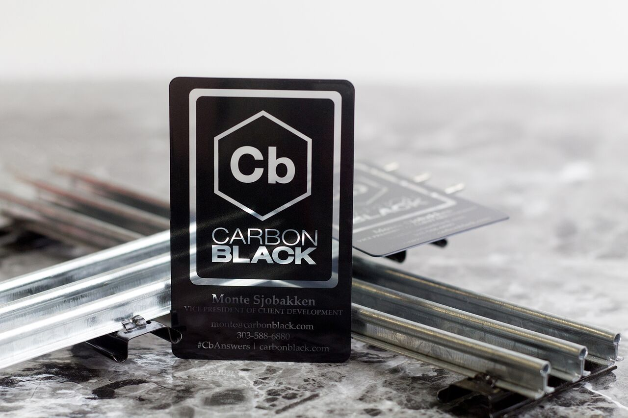Example of Clear Plastic Business Cards