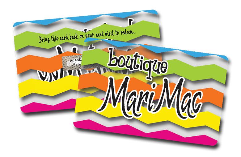 Example of custom return card