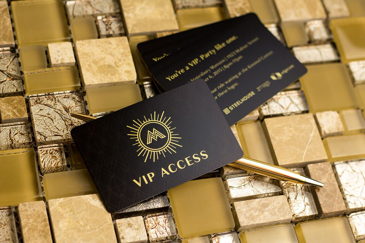 example of gold foil VIP card