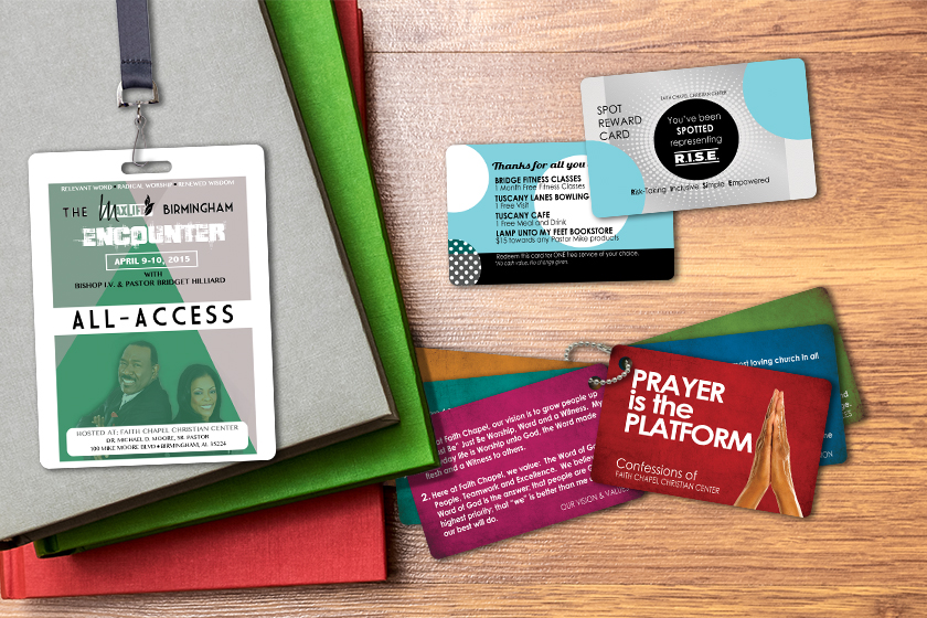 Example of Custom Prayer Cards by Plastic Printers, Inc.