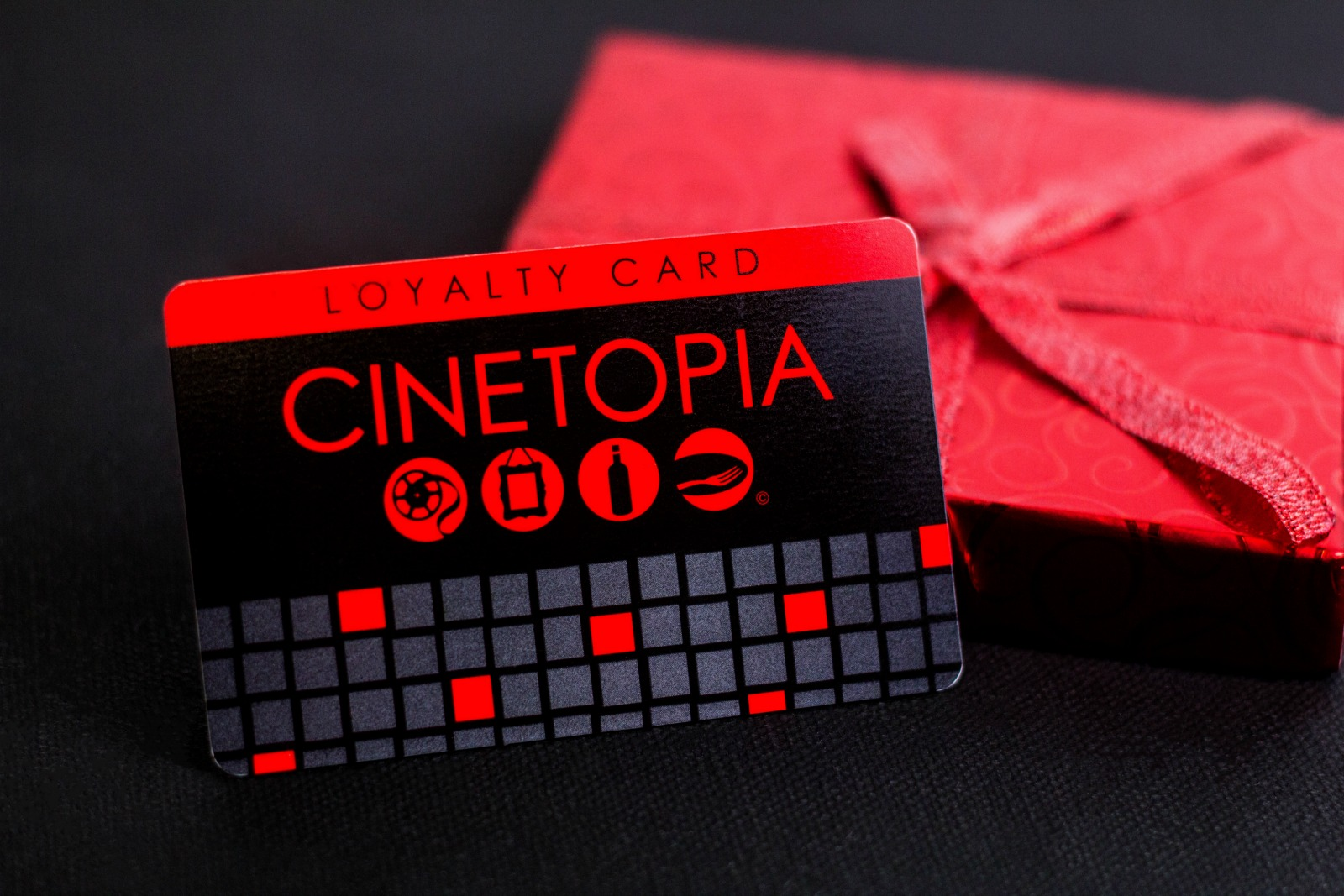 Example of movie theater gift cards from Plastic Printers