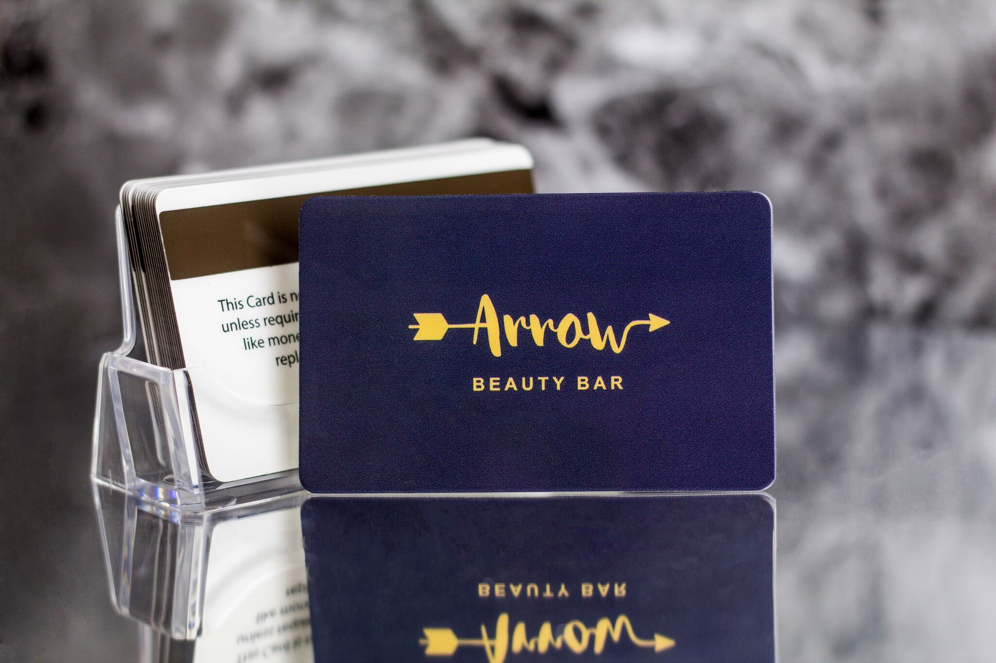 Example of spa gift cards from Plastic Printers
