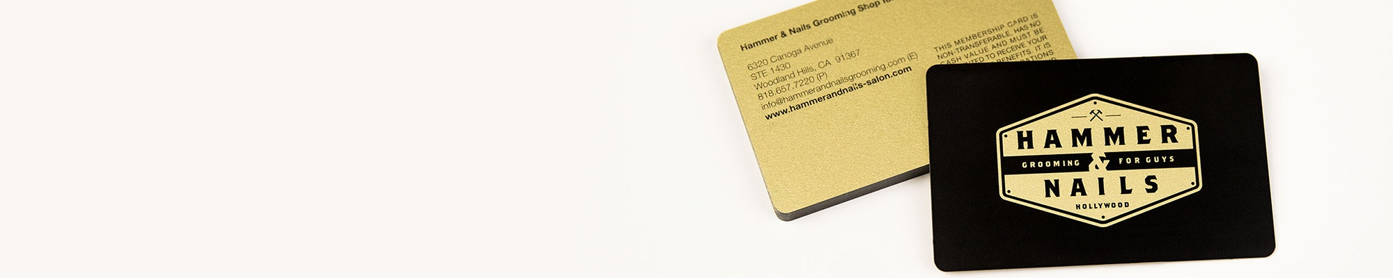 example of a gold metal business card