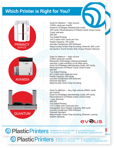Which Evolis plastic card printer is right for you?