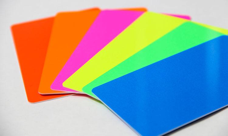 florescent color palet choices