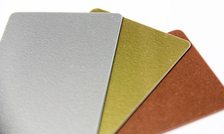 metallic color palet choices