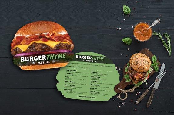 Custom Menu for your Burger Restaurant