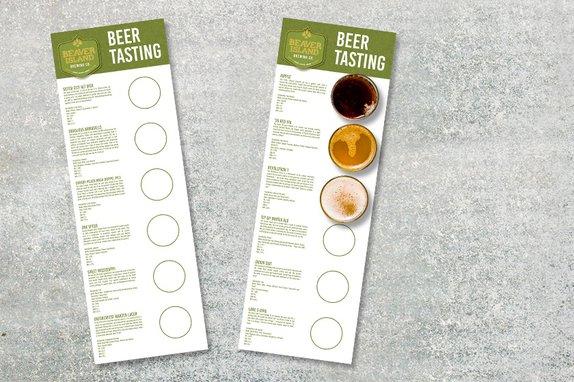 Brewery Tasting Menu