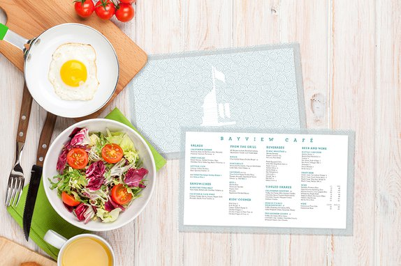 Custom Plastic Menus with Frosted Accents