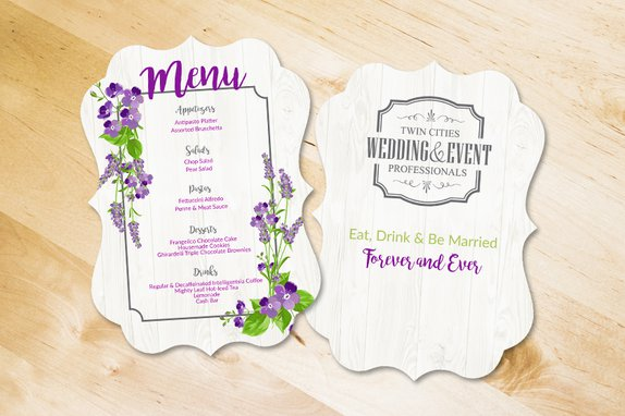 Wedding Menu for Wedding & Event Professionals