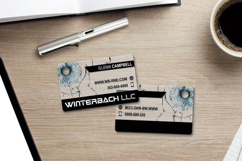 Clear business cards designed by Plastic Printers