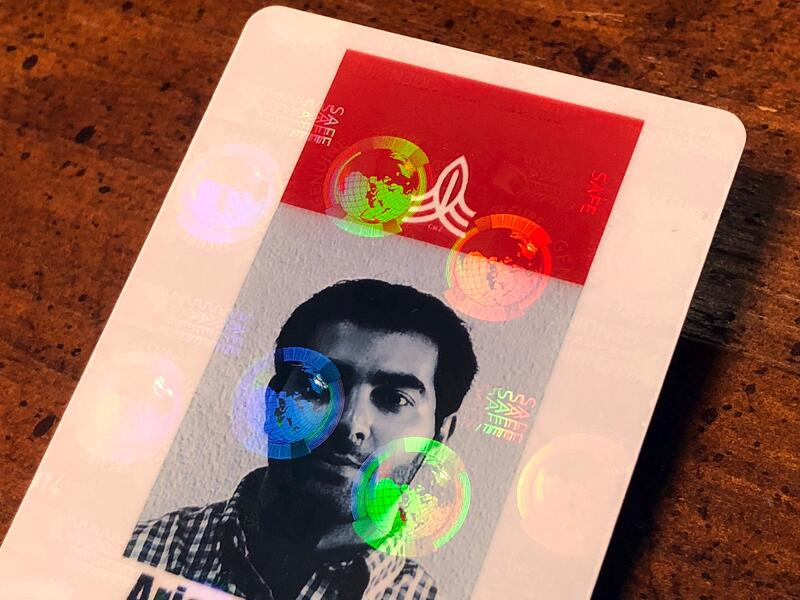 Custom ID Badge with a Hologram Finish