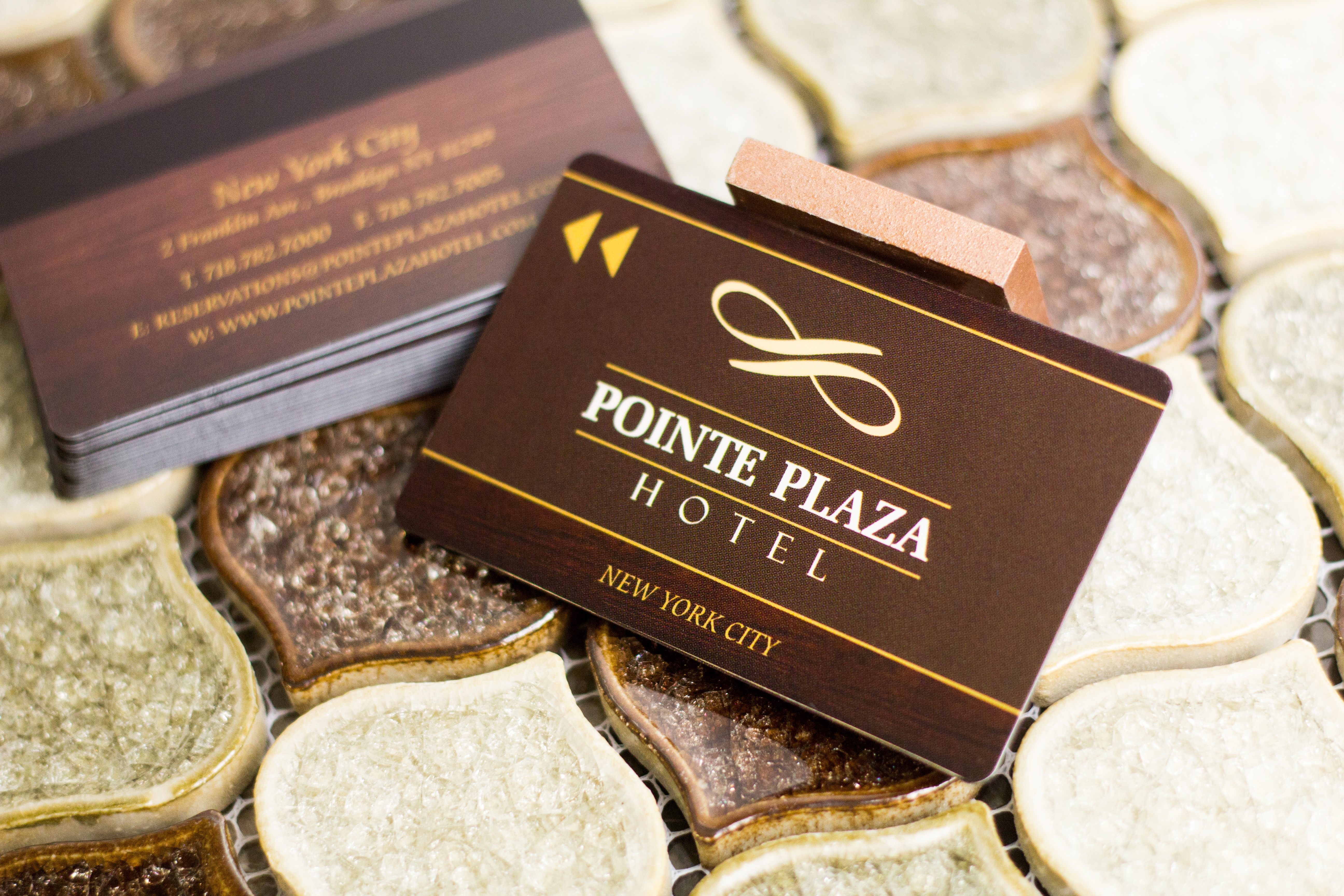Pointe Plaza Hotel Key Card with a Magnetic Stripe