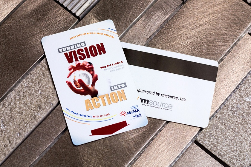 Hotel Key Card for a Conference Event with a Magnetic Stripe
