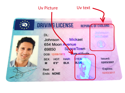 UV Watermark on a Driver's Licence