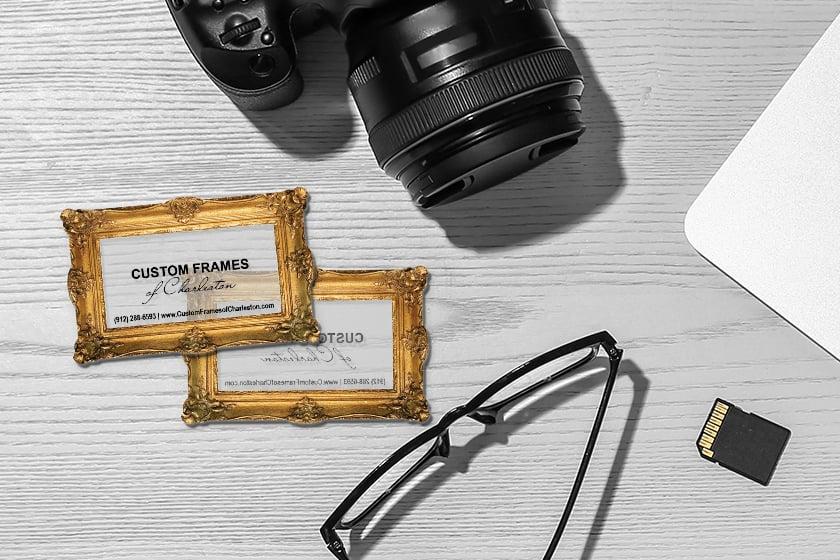 Transparent Business Cards for Custom Frames