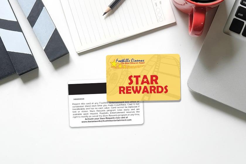 Cinema Rewards Card with Star Rewards