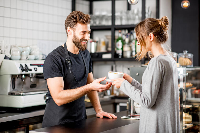 Customer service can go a long way toward creating a good experience at your coffee house