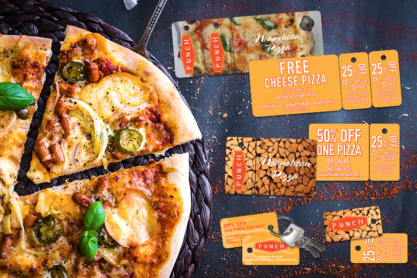 Combo Cards for Punch Pizza