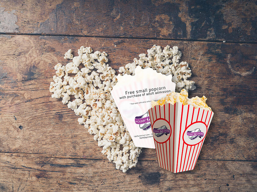 Promo cards for your Movie Theatre