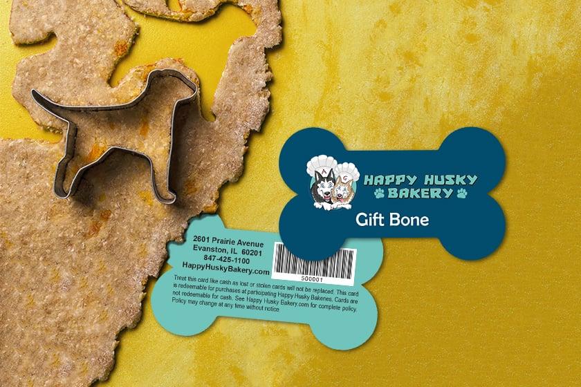 Custom Gift Cards for a Dog Bakery