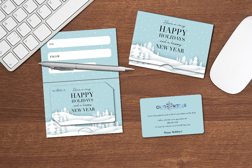 Custom gift cards and gift card holders